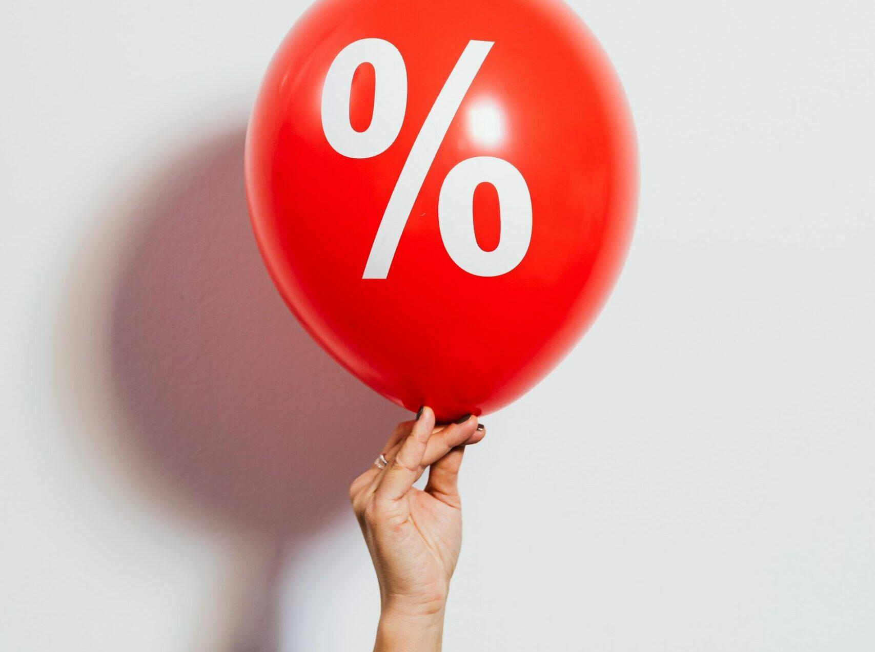 ballon met procentteken