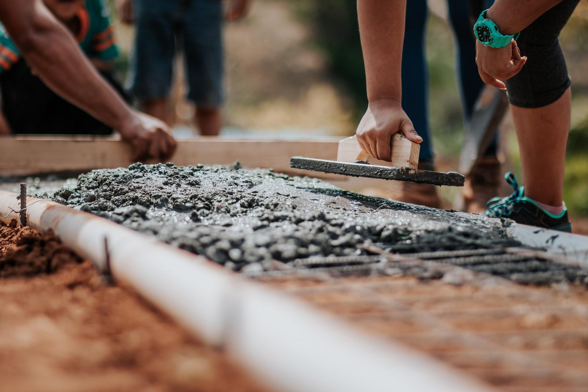 cement fundering metselen