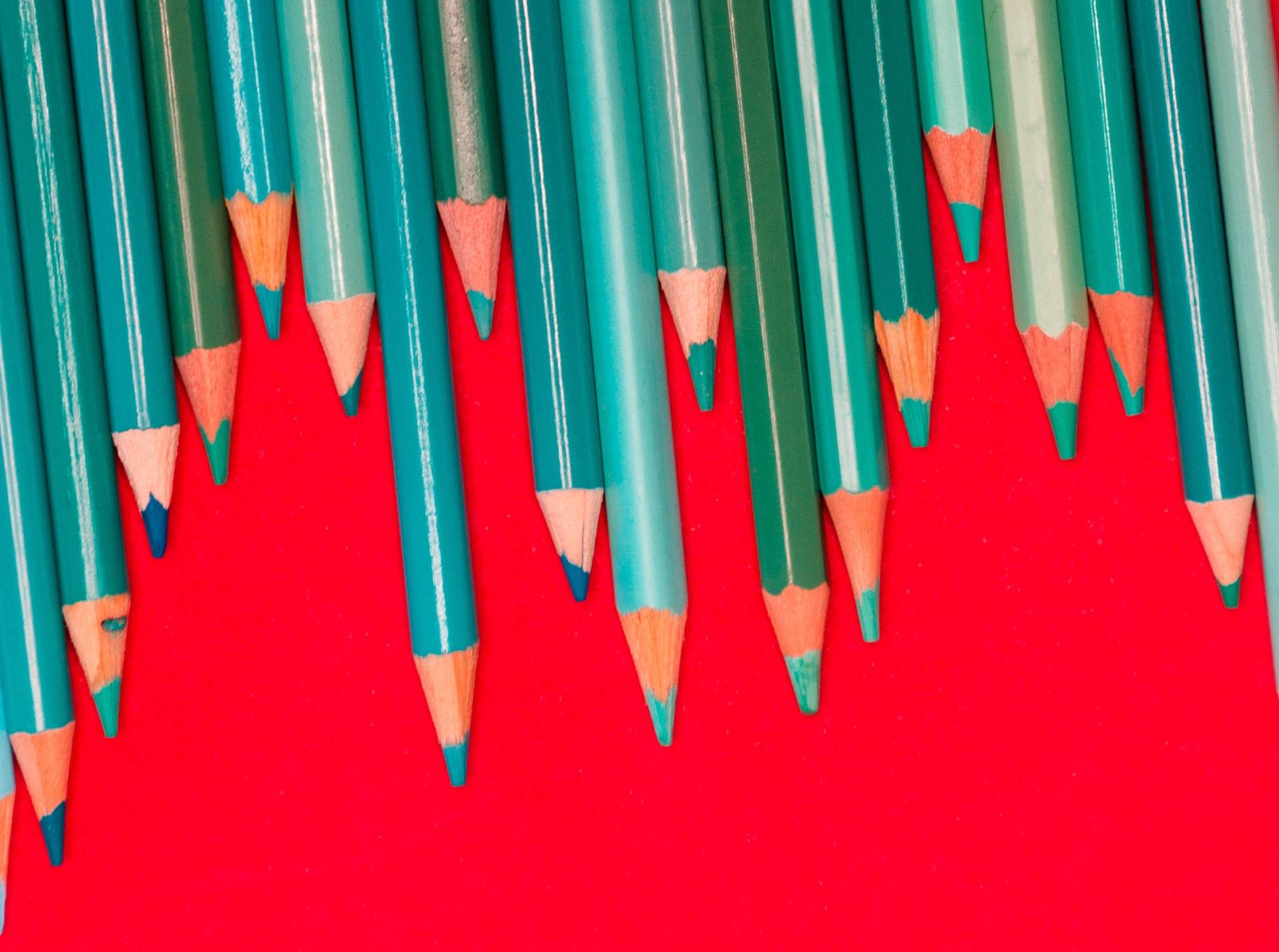 potloden die lijken op een grafiek